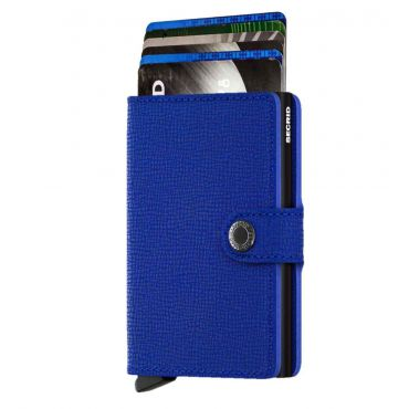 SECRID - Secrid mini wallet leer crisple blauw zwart