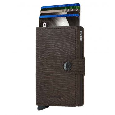 SECRID - Secrid mini wallet leer Rango bruin bruin