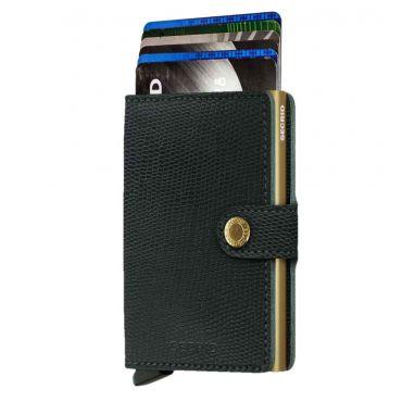 SECRID - Secrid mini wallet leer Rango groen goud