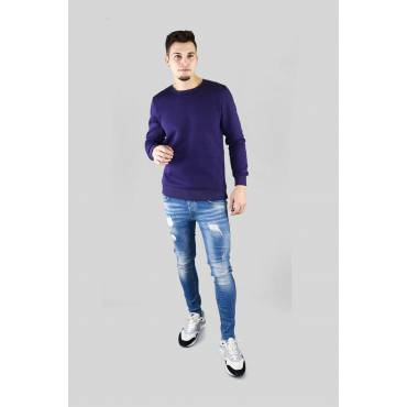 Denim Lab - Sweater basic paars