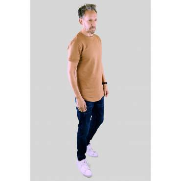 Uniplay - T-shirt regular afgerond basic camel