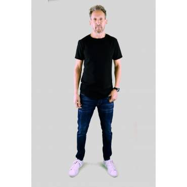 Grj-denim - Slim fit Jeans stretch donkerblauw licht bekrast (L32)