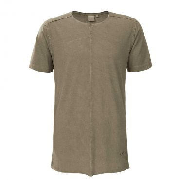 ZUMO - T-shirt long fit Coripoto dirty bruin