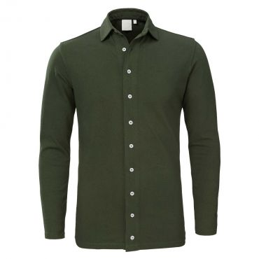 ZUMO - Stretch Slim fit blouse army groen