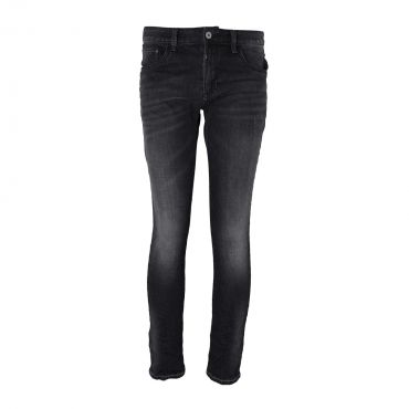 KENZARRO - Jeans stretch skinny zwarte wassing met lichte krassen (L32)
