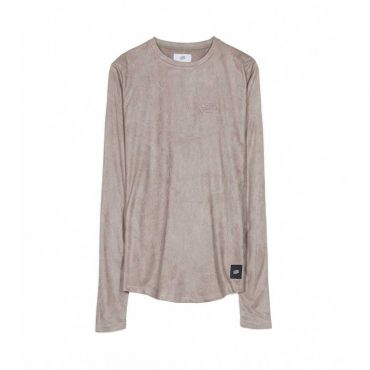 Sixth June - Sweater long fit suede look taupe