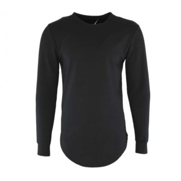 Uniplay - Basic longfit sweater zwart