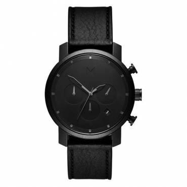 MVMT - Horloge Chrono 40mm black leather