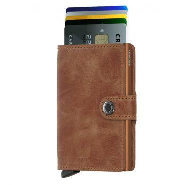SECRID - Secrid mini wallet leer vintage cognac rust