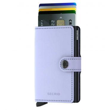 SECRID - Secrid mini wallet leer mat lila zwart