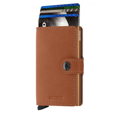 SECRID - Secrid mini wallet leer veg caramello