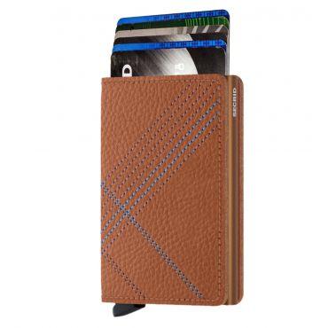 SECRID - Secrid slim wallet leer stitch linea caramello