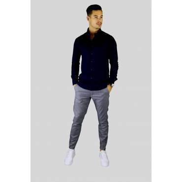 Y TWO Jeans Business Overhemd slim fit donkerblauw