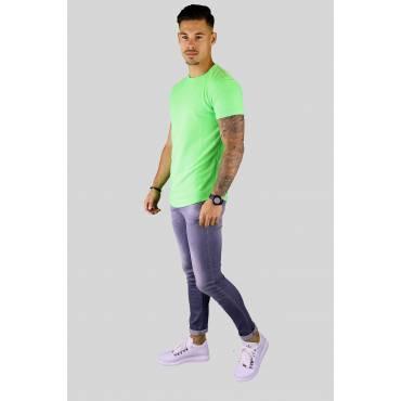 AARHON T-shirt regular neon groen