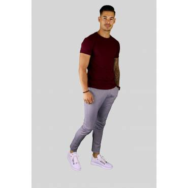 AARHON T-shirt regular recht basic bordeaux
