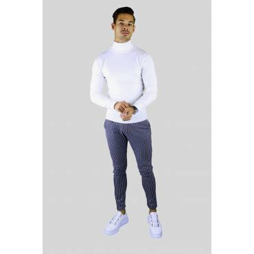 Y TWO Jeans Dunne zacht tricot coltrui creme wit