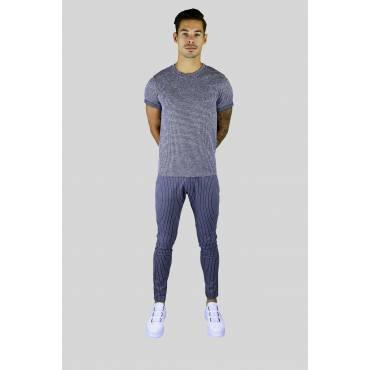 AARHON Jogging pants stretch grijs gestreept