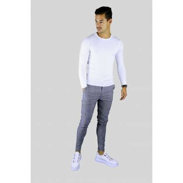 Y TWO Jeans Dunne zachte tricot pullover met ronde hals bruin
