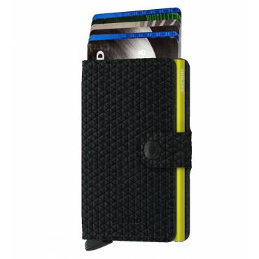 Secrid mini wallet leer diamond zwart