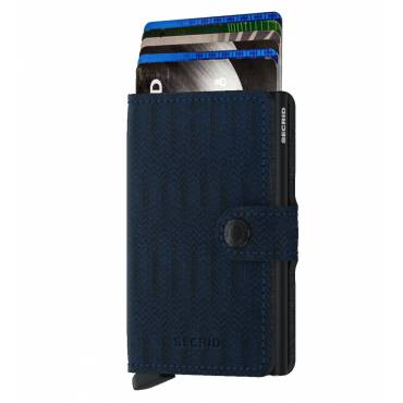 Secrid mini wallet leer dash navy