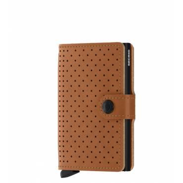 Secrid mini wallet leer perforated cognac