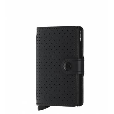 Secrid mini wallet leer perforated zwart