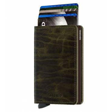 Secrid slim wallet leer Dutch Martin olijfgroen
