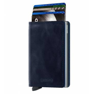 Secrid slim wallet leer vintage blauw