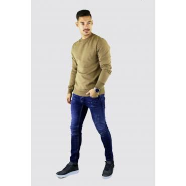 Y TWO Jeans Basic sweater beigewassing