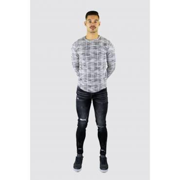 FRILIVIN Jeans skinny gescheurd grijs (L33)