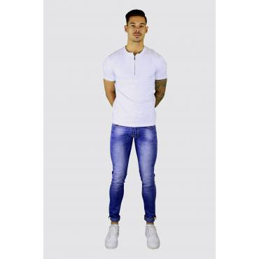Bruno Leoni Skinny Jeans basic wassing blauw (L33)