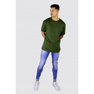 Uniplay Long fit soft t-shirt groen
