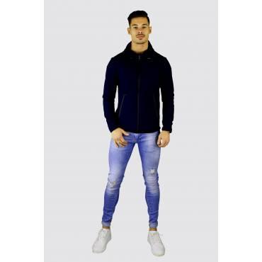Y TWO Jeans kobalt blauw slim fit stretch zomerjack