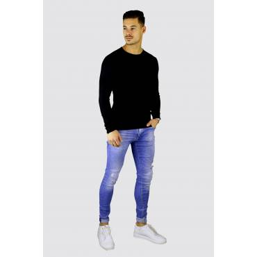 Y TWO Jeans Katoenen longsleeve basic zwart