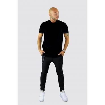 Uniplay T-shirt velours oversized zwart