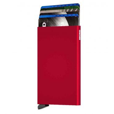 SECRID - Secrid card protector aluminium in kleur rood