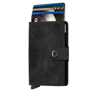 SECRID - Secrid mini wallet leer vintage zwart