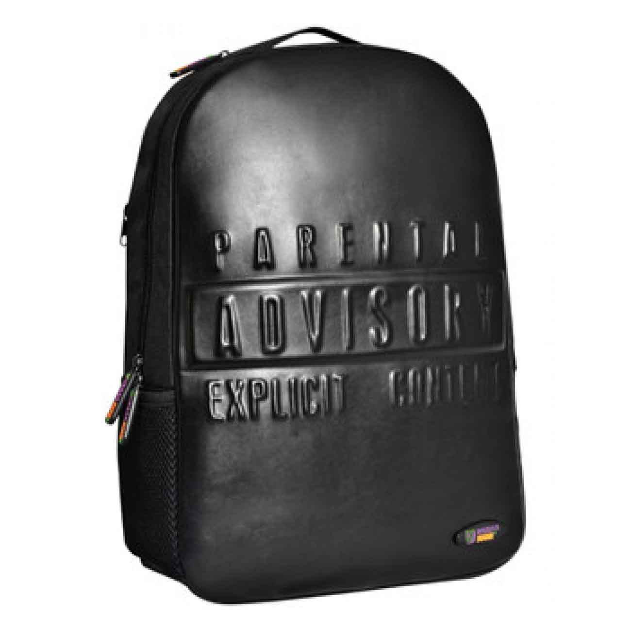 Whish Herenkleding. Backpack black Warning 3D Lux