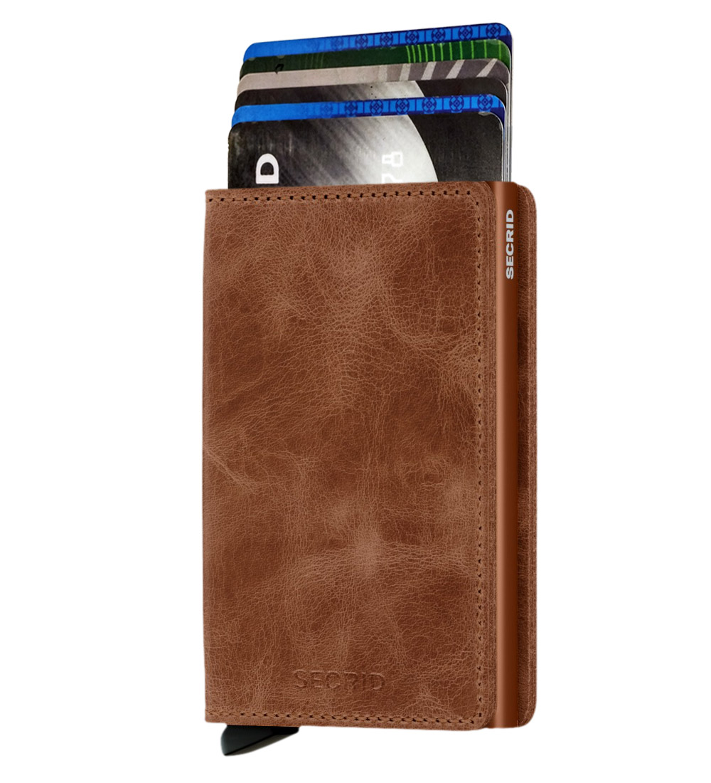 Whish Herenkleding. Secrid slim wallet leer vintage cognac rust
