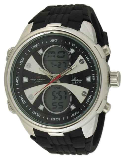 Horloge anadigi X staal zwart