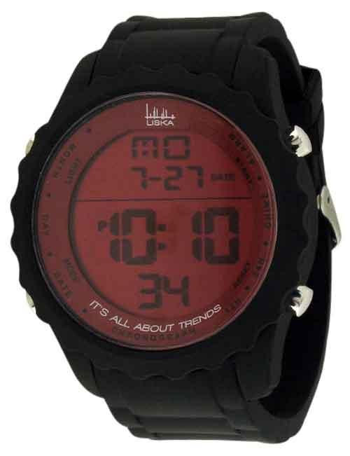 Horloge digitaal Neon zwart-rood