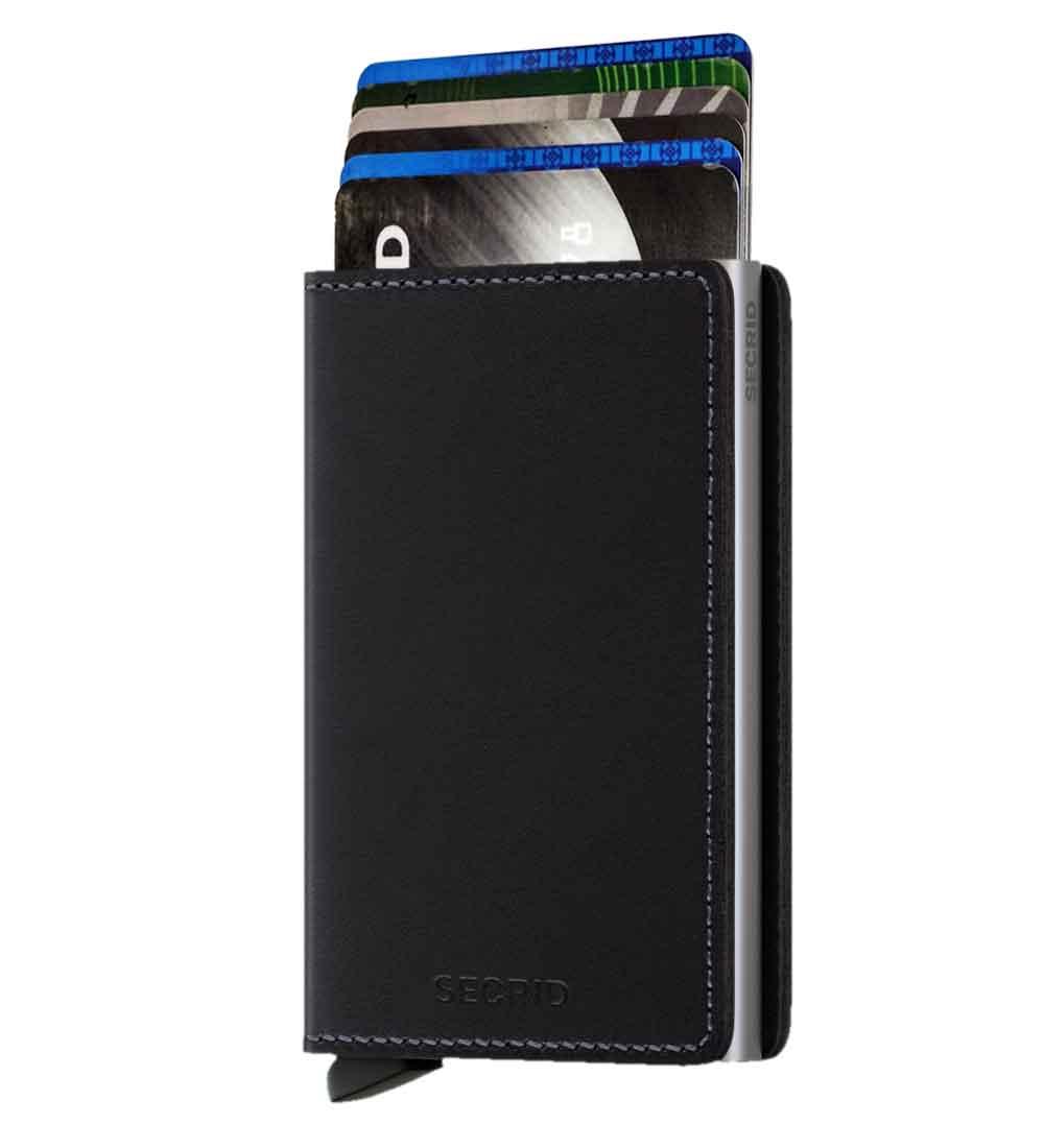 Whish Herenkleding. Secrid slim wallet leer original zwart